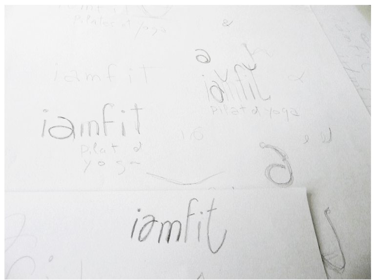 Logotype study for I am Fit, Pilates and Yoga (1)