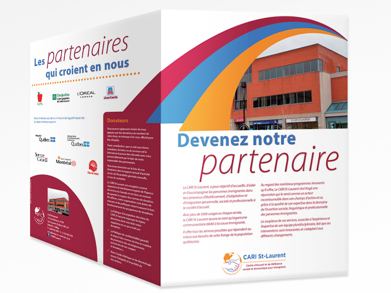 Sponsorship brochure for CARI St-Laurent