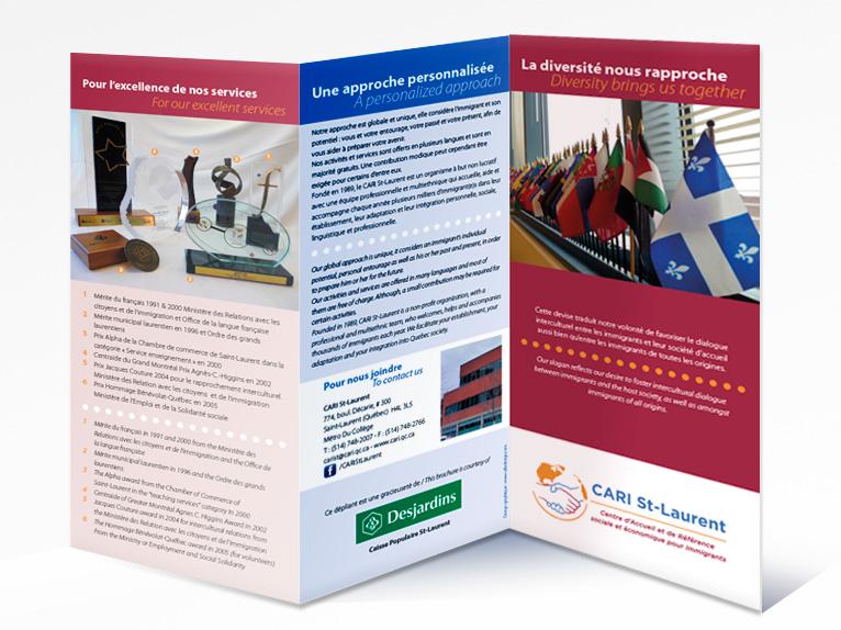 Leaflet for CARI St-Laurent (Front)