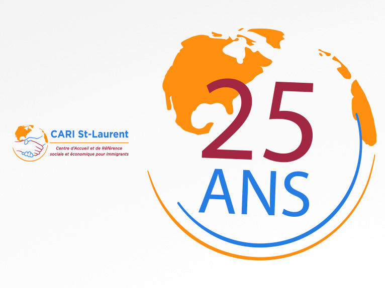 Logotype for CARI St-Laurent (25 year celebration)