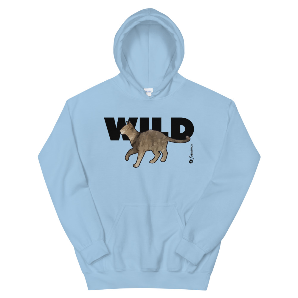 WILD - unisex heavy blend hoodie Blue: Design-by-fANSIMON