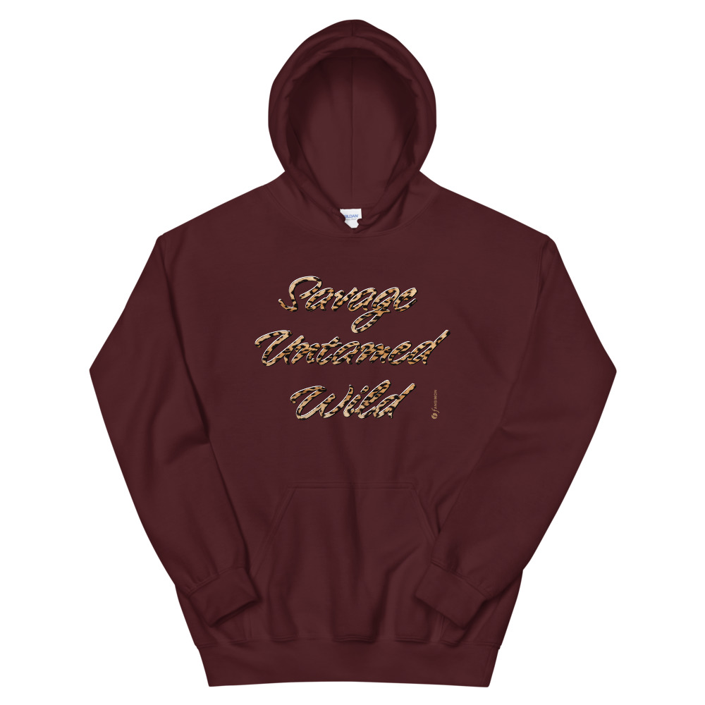 Savage Untamed Wild - unisex heavy blend hoodie Brown: Design-by-fANSIMON